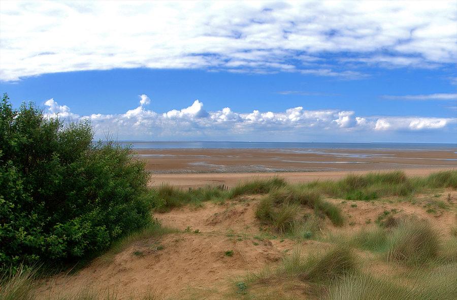 Views across the sea at Hunstanton