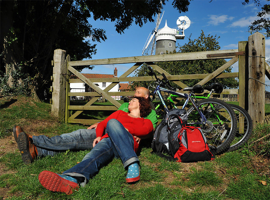 Relax at the Bircham Windmill after your cycling